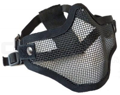 Airsoft Lower Half Face Mesh Mask (Black)