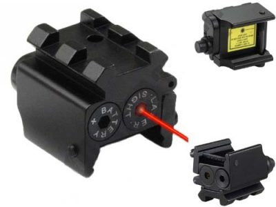Airsoft Pistol Laser (Red) with RIS Rail 2