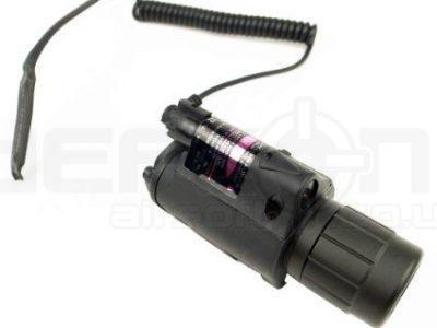 Airsoft Tactical Cree LED TorchFlashlight With Laser Module (Black)
