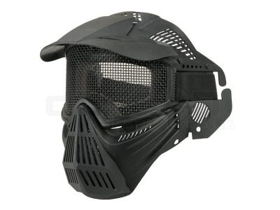 Airsoft Tactical Full Face Guard Mask with Mesh Goggles (Black)1