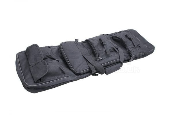 Large Black Airsoft Rifle 2 Section Case