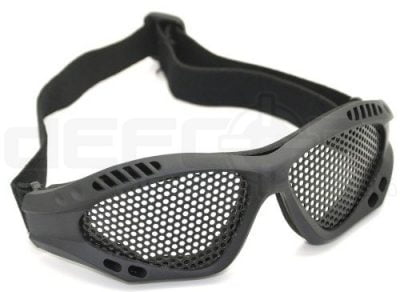 Mesh Airsoft Glasses with Cotton Strap (Black)