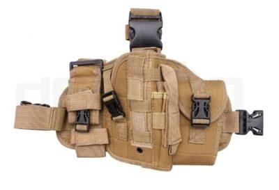 Modular drop leg panel with airsoft pistol holster (Tan)