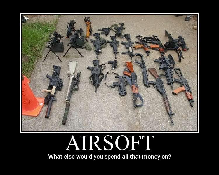 airsoft gun collection