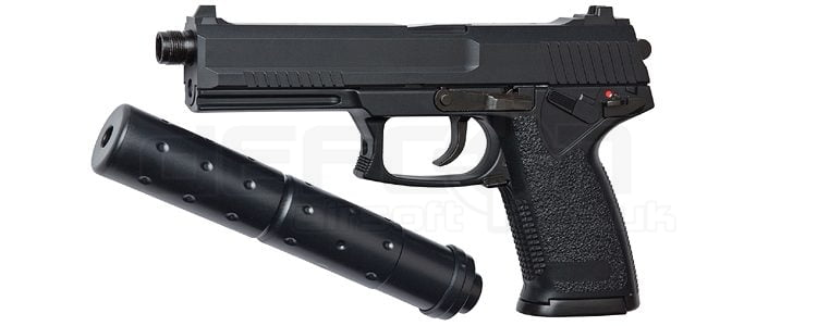 HFC Stealth Assassin SOCOM MK23 Gas pistol with silencer