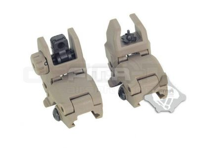 MBUS style GEN 1 Front and Rear Folding sights - Tan