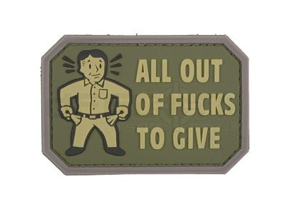 All Out - 3D Badge - Olive Drab