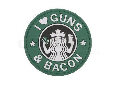 Guns and Bacon - 3D Badge - Green