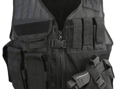 KombatUK Cross Draw Tac-Vest - Black