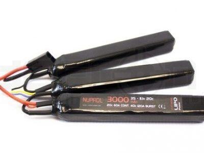 Nuprol 3000mah 11.1v 20c Lipo Triple Nunchuck Type