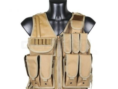 Big Foot 600D Tactical Vest with Pistol Holster (Tan)