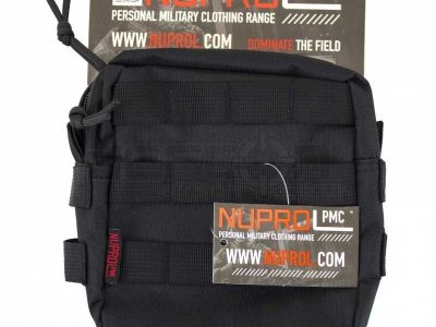 Nuprol PMC Medium Zipped Utility Pouch - Black