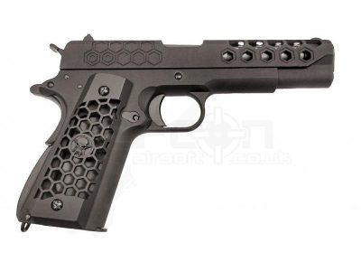 WE 1911 Hex Cut GBB Pistol (Black)