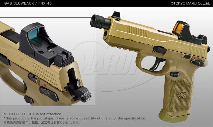 Tokyo Marui Fnx 45 Tactical Gbb Pistol Defcon Airsoft