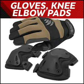 Gloves, Knee & Elbow Pads